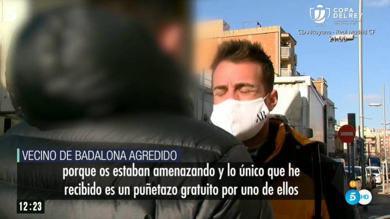 El testigo de la agresión, en 'El programa de AR'. (Telecinco)