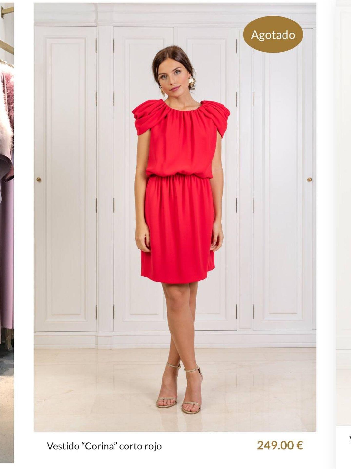 El vestido de Leonor, en la web de la firma. (Bgo & Mer)