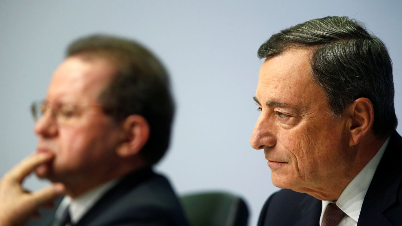 Foto: Mario Draghi, presidente del BCE, junto con el vicepresidente, Vitor Constancio (Reuters)
