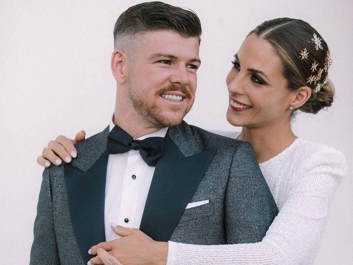 Foto: Alberto Moreno y Lilia Granadilla, en su boda. (Instagram @18albertomp)