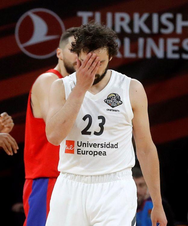 Foto: Sergio Llull no jugó un buen partido contra el CSKA, pero terminó con 13 puntos y pudo forzar la prórroga. (EFE)
