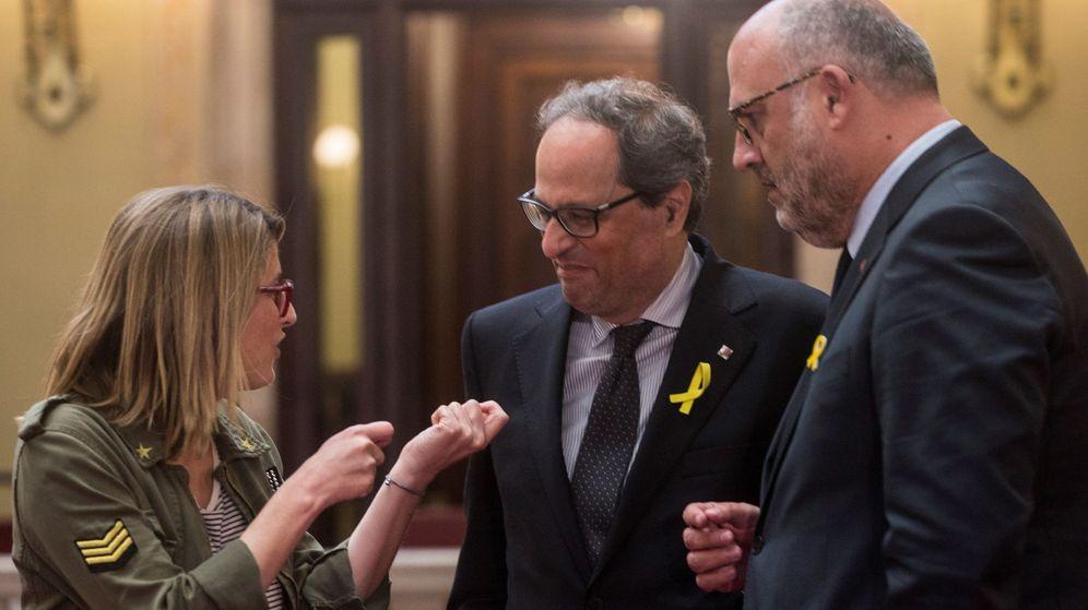 Foto: Quim Torra a su llegada al Parlament. (EFE)