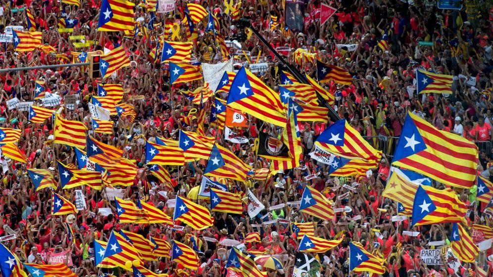 Foto: Manifestación de la Diada del 11 de septiembre del año pasado en Barcelona. (EFE)