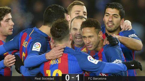 El Barça rompe la maldición de Anoeta con aburrimiento antes de los tambores