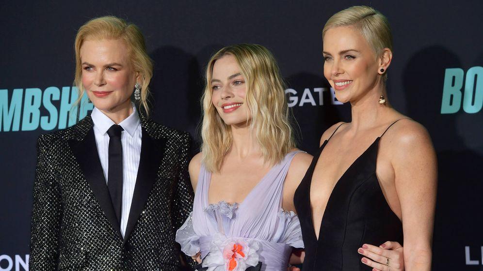 Foto: Nicole Kidman, Margot Robbie y Charlize Theron. (Getty)