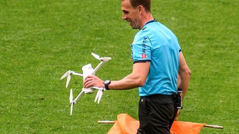 El fútbol español se blinda contra los drones (salvo las retransmisiones de Roures)