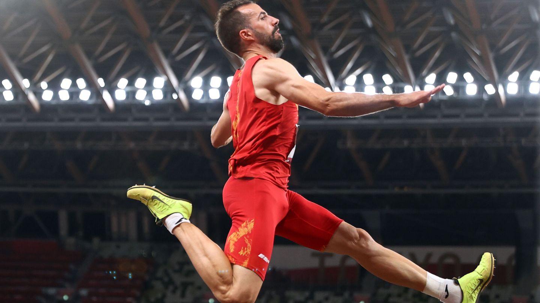 Eusebio Caceres en acción durante los Juegos. (Reuters)