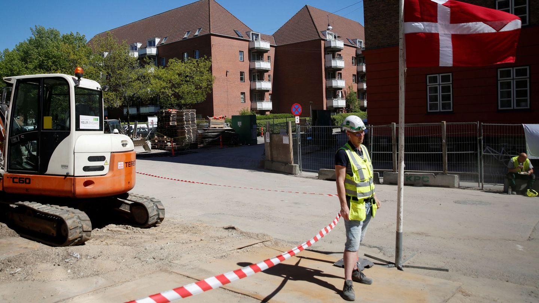 Una obra en Mjølnerparken, gueto de Copenhague. (Reuters)