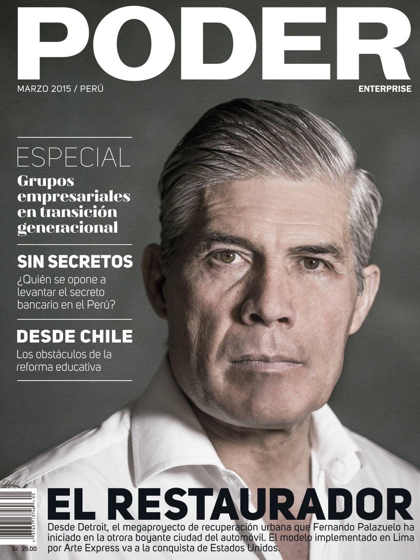Fernando Palazuelo, en la portada de la revista 'Poder'.