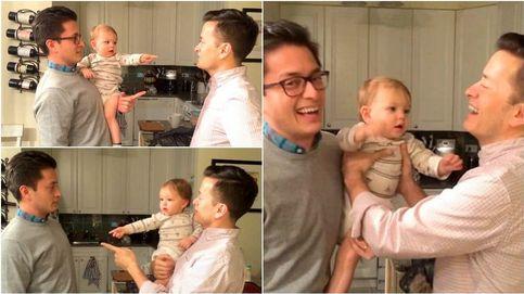 ¿Quién es mi padre? El divertido vídeo de un bebé confundido por gemelos