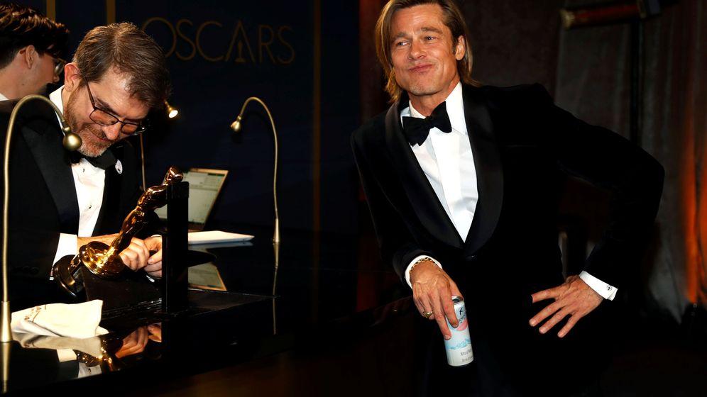Foto: Brad Pitt espera que le grabenh su Oscar a Mejor Actor de reparto tras la gala. (Reuters)