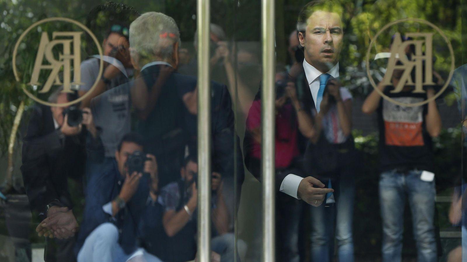 Foto: El presidente de El Corte Inglés, Dimas Gimeno Álvarez, momentos antes del inicio de una junta de accionistas. (EFE)