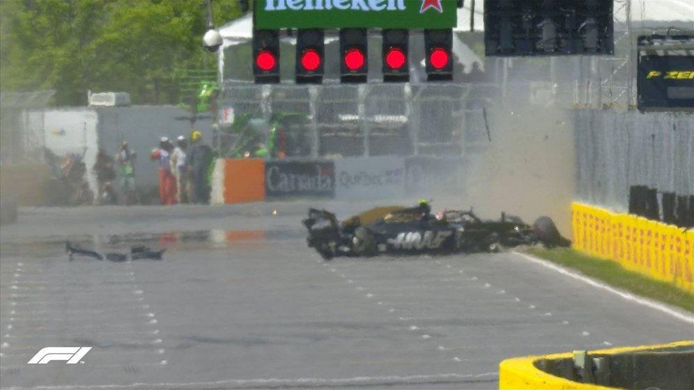 Foto: Así quedó el monoplaza de Kevin Magnussen tras el accidente el sábado en el GP de Canadá (Fórmula 1)