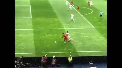 El brutal caño de Cristiano Ronaldo a Kevin Mbabu