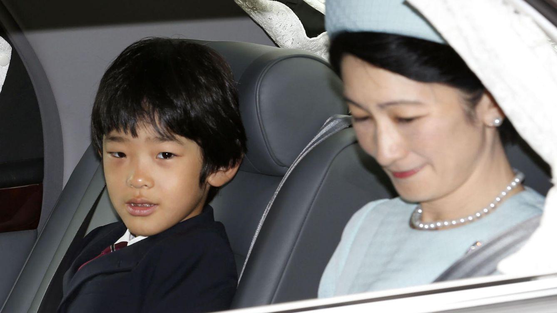Foto: El príncipe Hisahito junto a su madre en una imagen de archivo (Gtres)
