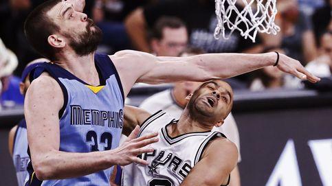 La canasta de Marc Gasol con la cabeza ante los Spurs (que no valió para nada)