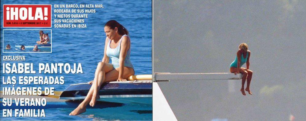 Foto: Pantoja vs. Lady Di. (Fotomontaje de Vanitatis)