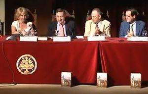 Pedro J. Ramírez presenta su último libro en presencia de Aguirre, Bono y Zapatero