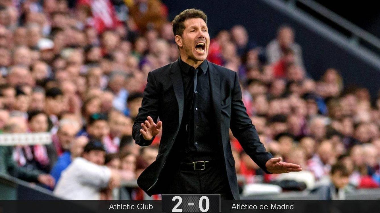 Foto: El Atlético de Madrid apenas creó peligro en el partido contra el Athletic Club. (EFE)
