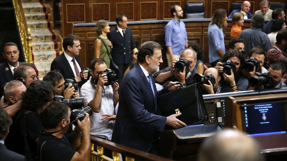 Foto: Mariano Rajoy, durante la sesión de investidura en el Congreso de los Diputados o(EFE)