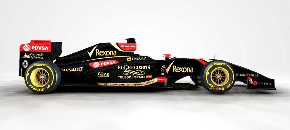 Foto: Imagen de los coches del Lotus F1 Team para el GP de Barcelona.