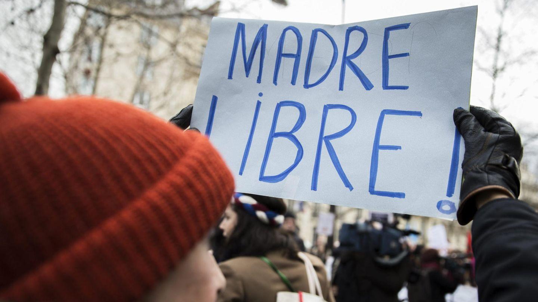 Manifestación contra la nueva Ley del Aborto. (EFE)