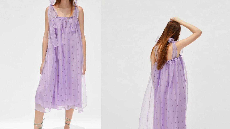 El vestido más original de Zara es este.  (Cortesía)