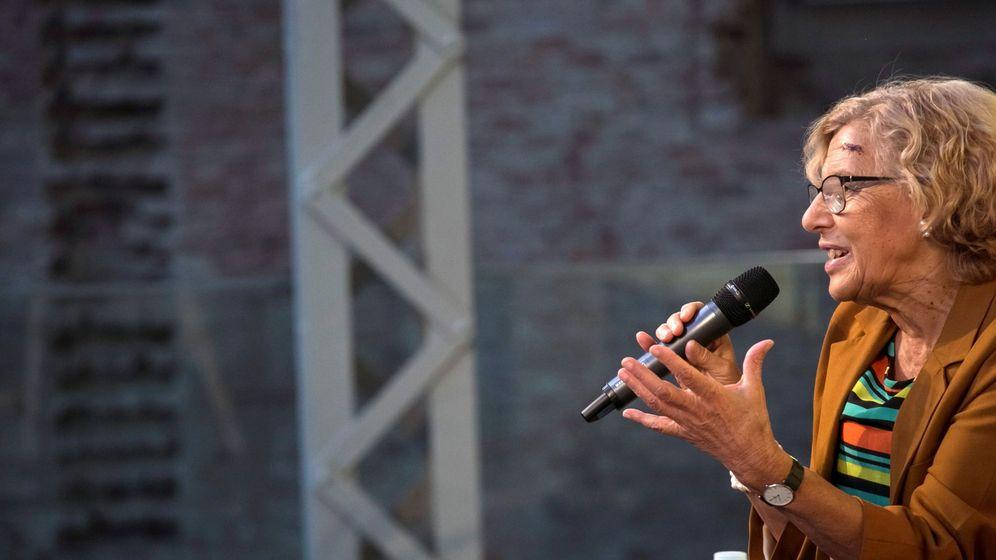 Foto: La alcaldesa de Madrid, Manuela Carmena, durante la inauguración de IV Encuentro de Cultura y Ciudadanía, en el Centro Cultural Daoiz y Velarde de Madrid. (EFE)