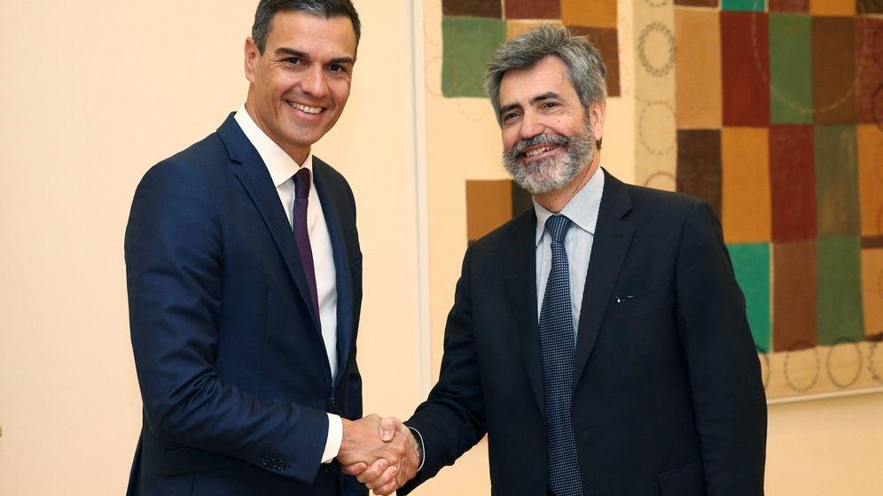 Foto: Sánchez y Lesmes, en una foto de archivo. (EFE)