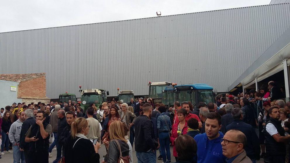 Tractores para defender los colegios de la policía: así vota la Cataluña rural
