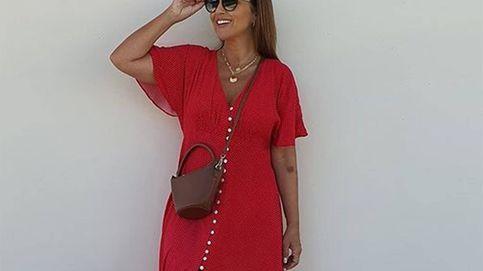 El vestido rojo de Mango de Paula Echevarría es lo que tu armario necesita