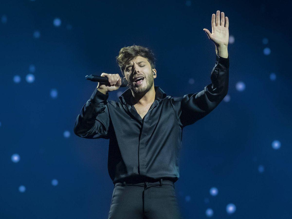 Foto: Blas Cantó, en uno de los ensayos de Eurovisión 2021'. (Raúl Tejedor/TVE)