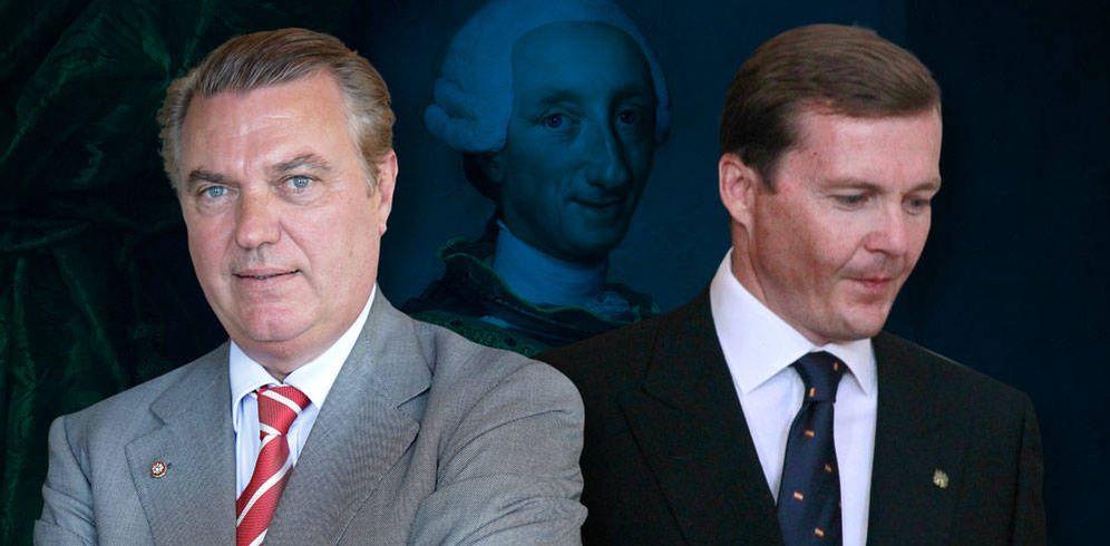 Foto: El duque de Castro y el duque de Calabria, en un fotomontaje realizado por Vanitatis.
