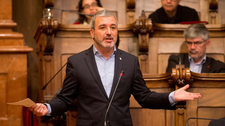 Jaume Collboni, líder del PSC en Barcelona, el pasado 26 de enero en el pleno del Ayuntamiento. (EFE)