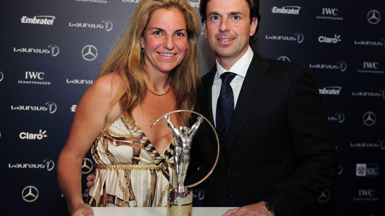 Arantxa y Santacana, en los Premios Laureus de 2013. (Getty)