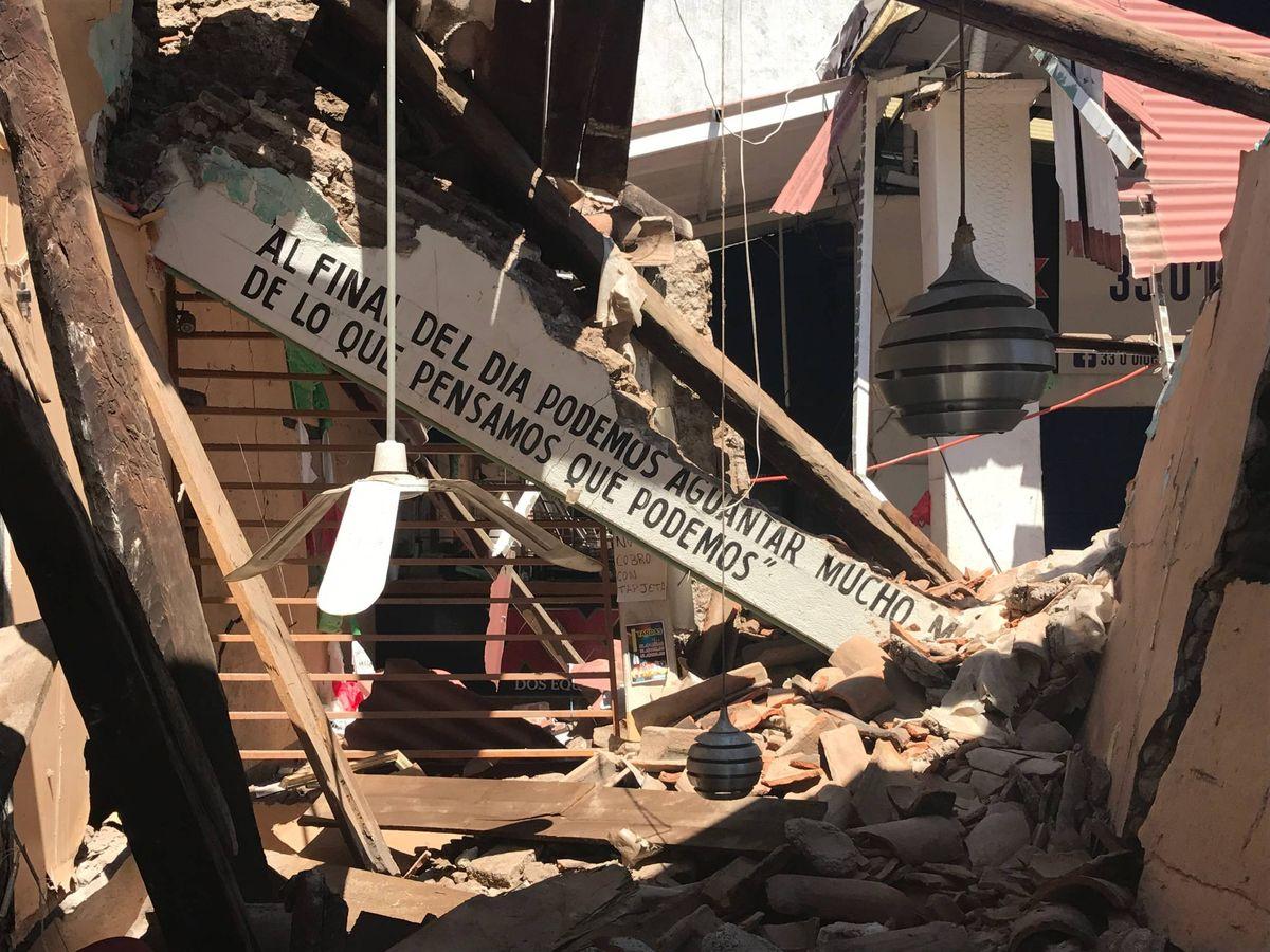 Foto: Escenario de un terremoto en Oaxaca, México. (Javier Brandoli)