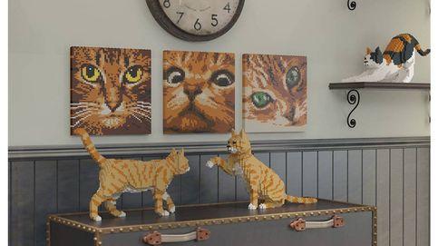 Gatos y legos, por fin algunos pueden unir sus dos pasiones