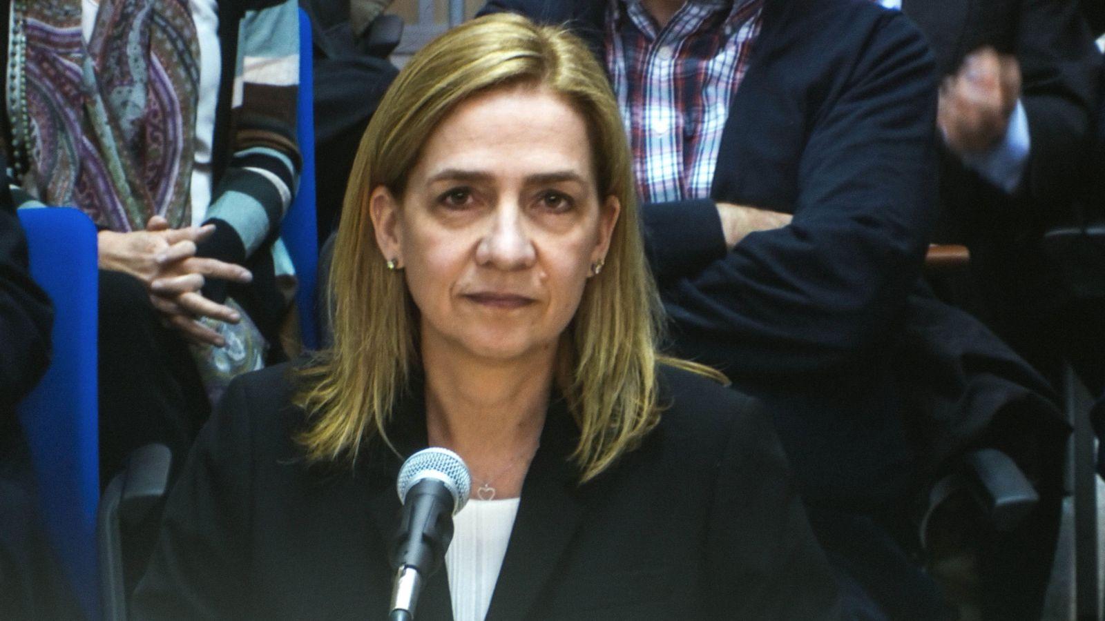 Foto: La infanta Cristina declara por el caso Nóos. (EFE)