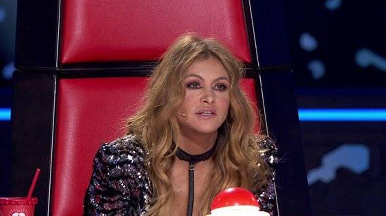 Paulina Rubio, en el estreno de 'La Voz'. (Antena 3)