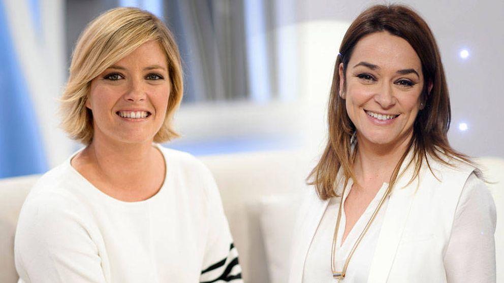 Toñi Moreno y María Casado, molestas tras su forzosa salida del armario