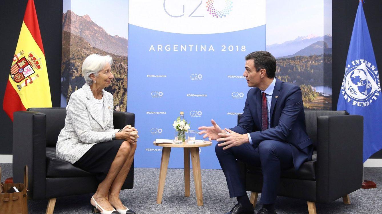 Foto: Un encuentro entre Christine Lagarde y Pedro Sanchez. (EFE)
