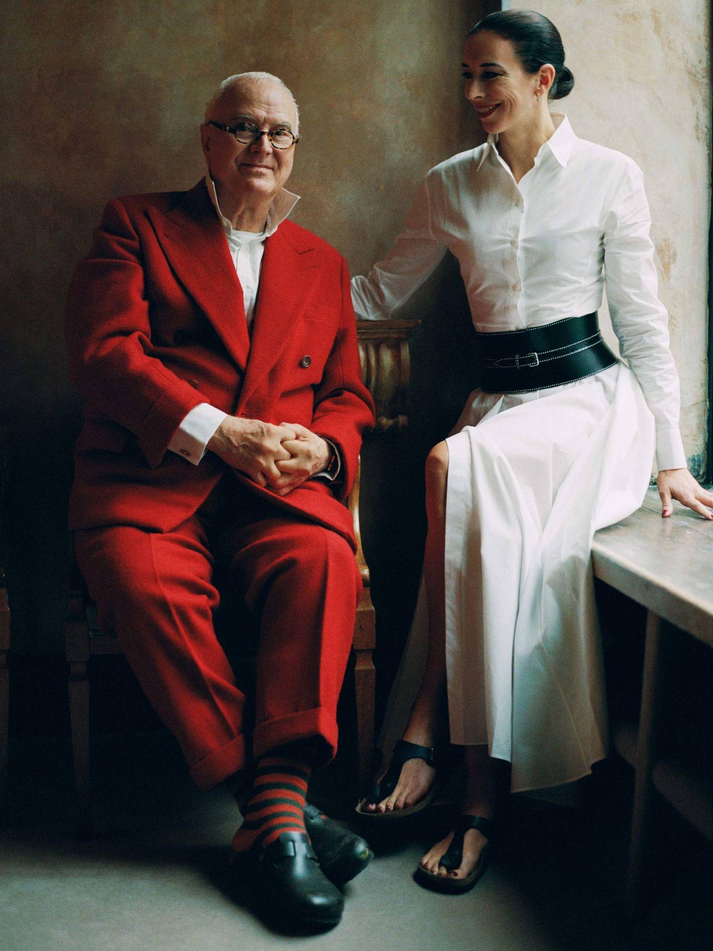 Manolo y Kristina Blahnik. (Cortesía de Birkenstock)