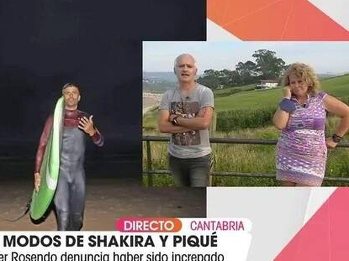 Foto: Piqué, en 'Viva la vida'. (Telecinco).