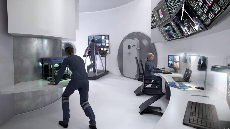 Zona de trabajo y ejercicio (Icon/Search /BIG)