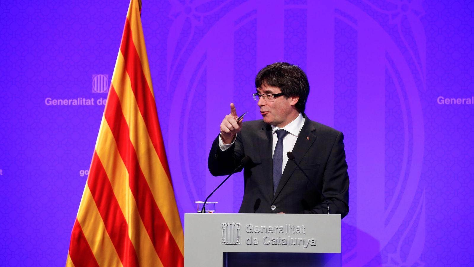 Foto: El presidente de la Generalitat, Carles Puigdemont. (Reuters)
