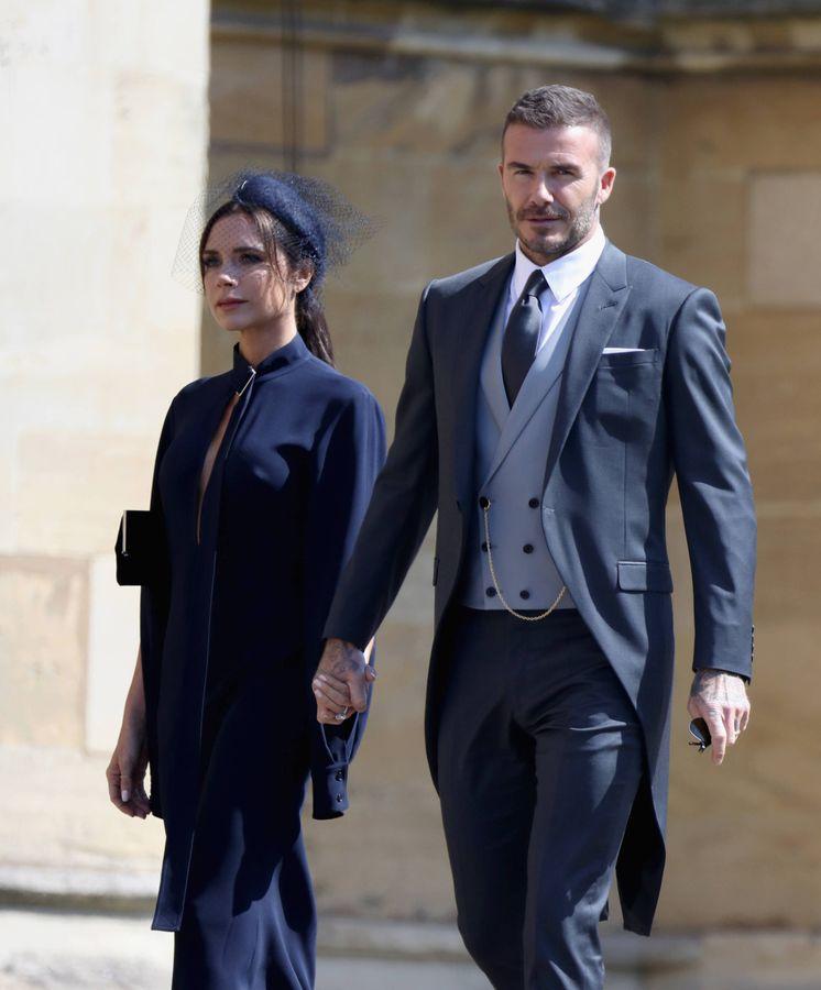 Foto: Victoria y David Beckham, en la boda real el pasado mayo. (Getty)