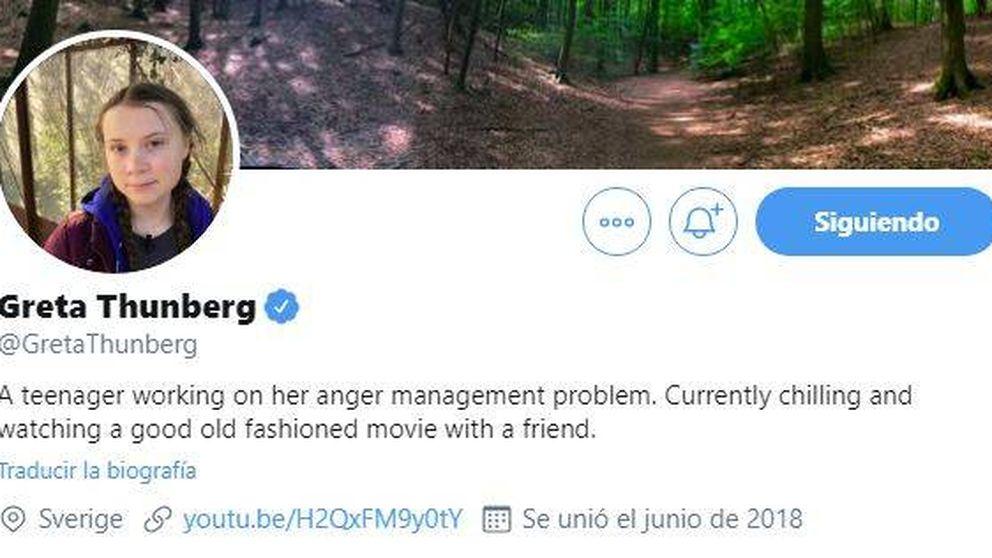 Greta Thunberg trolea (otra vez) a Donald Trump con un mensaje en su bio de Twitter