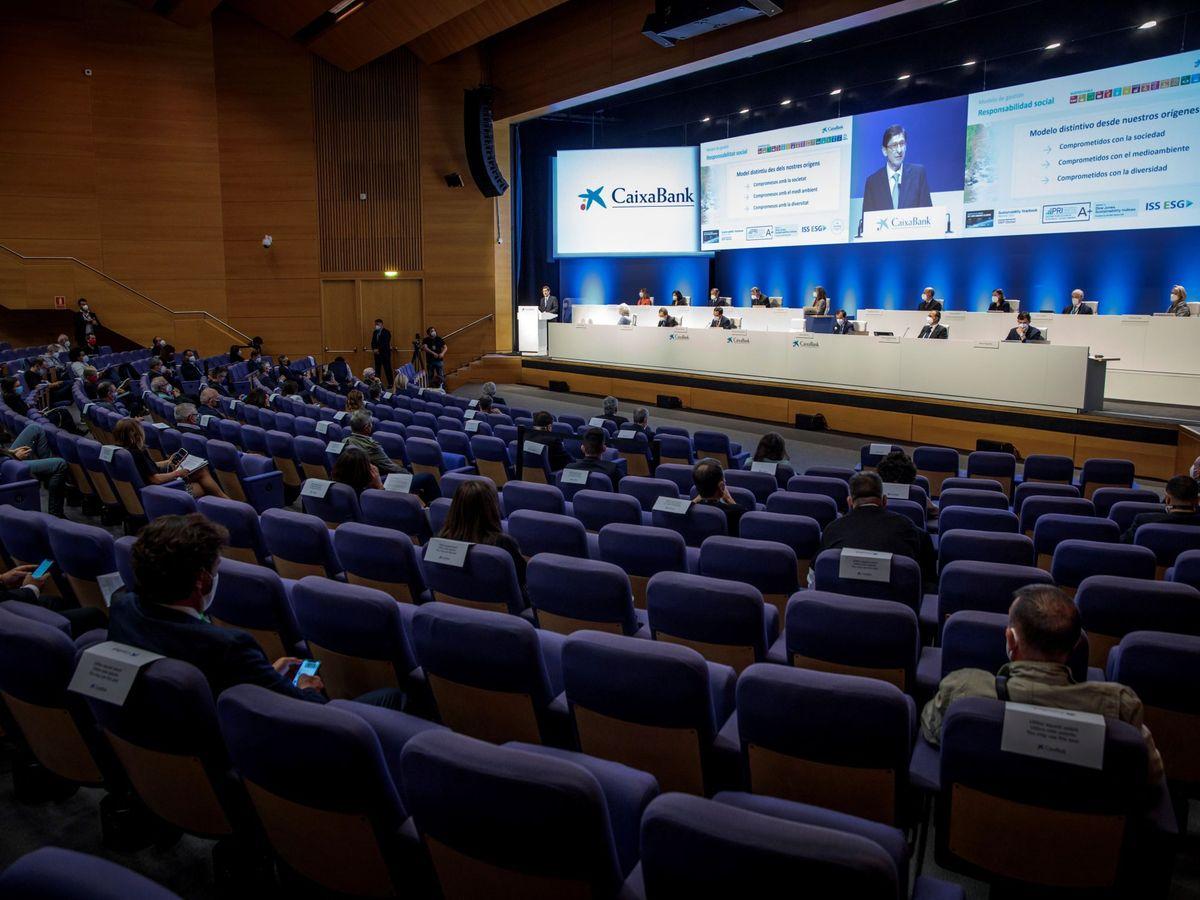Foto: Junta general de accionistas de Caixabank.