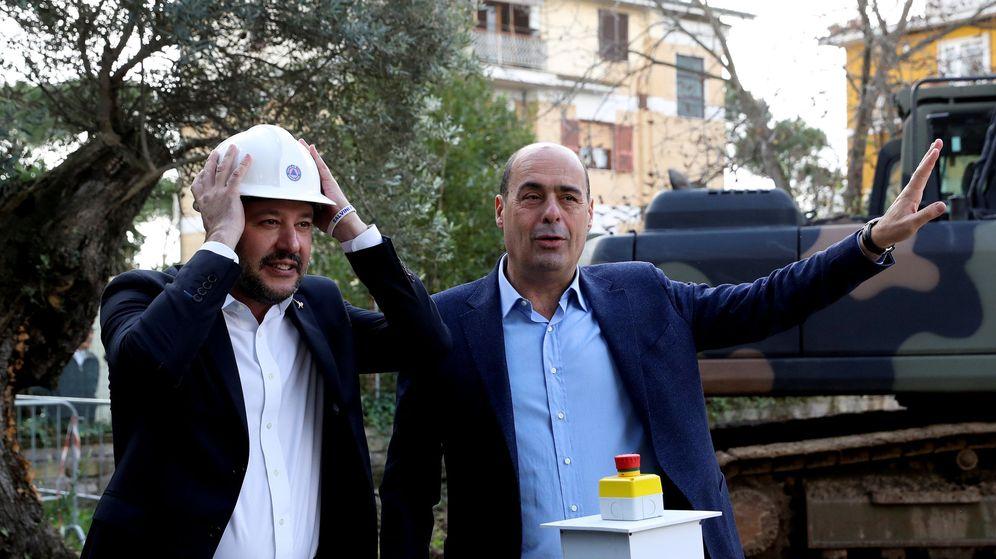Foto: Imagen de archivo de Matteo Salvini con Nicola Zingaretti, nuevo líder del PD. (Reuters)