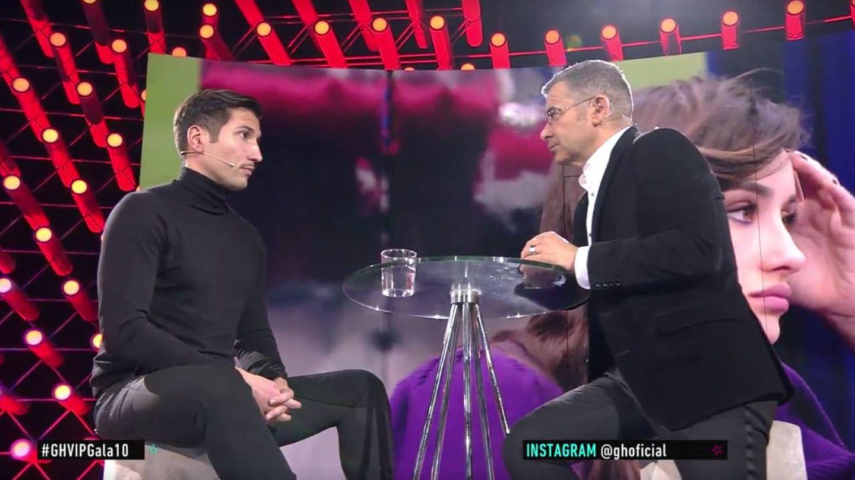 La entrevista de Jorge Javier Vázquez a Gianmarco Onestini. (Mediaset)